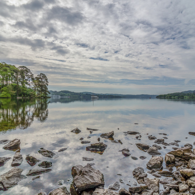 """""""Early morning on lake Windermere"""" stock image"""