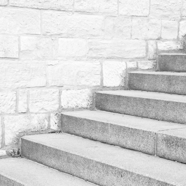 """""""nice old stone stairs in prague city center"""" stock image"""