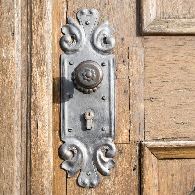 """nice old handle and door"" stock image"