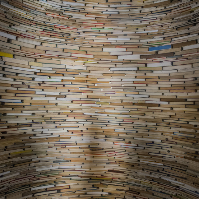 """""""books in prague library"""" stock image"""