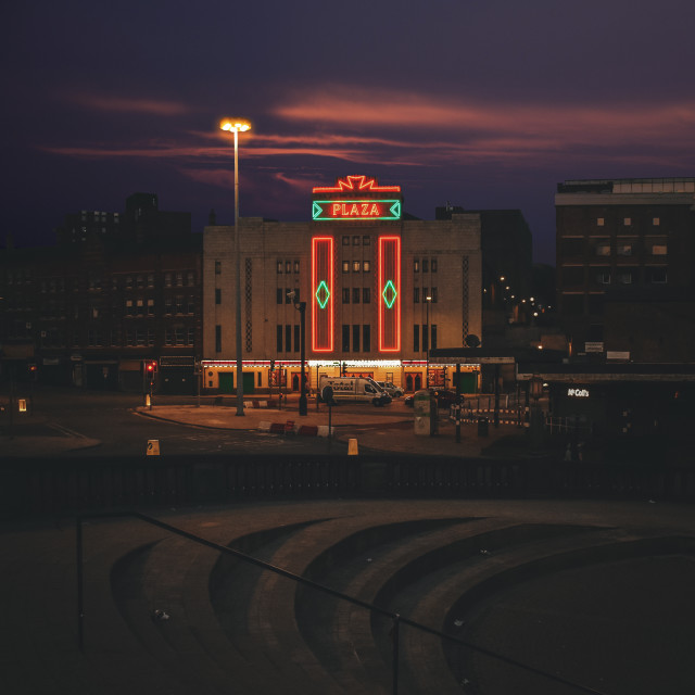 """Stockport Plaza"" stock image"
