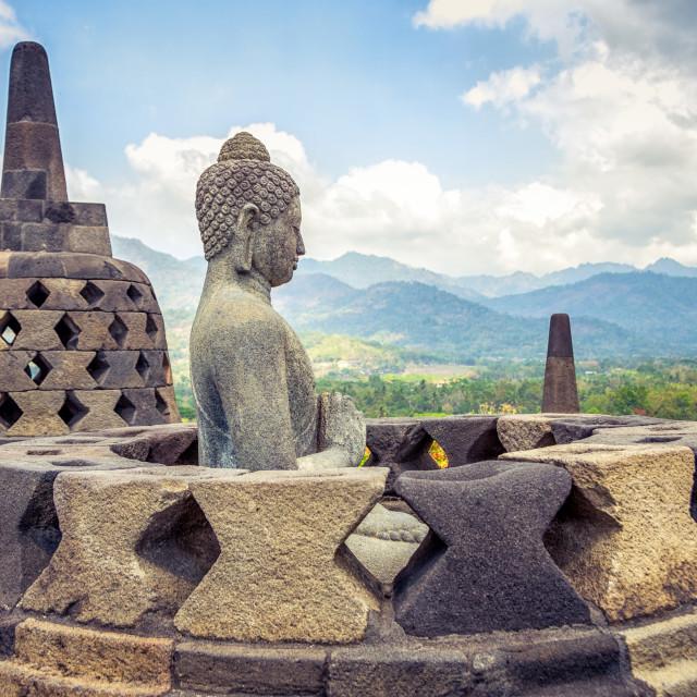 """Borobudur Buddha"" stock image"