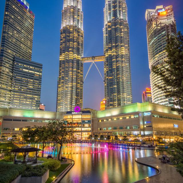 """""""petronas towers Kuala Lumpur"""" stock image"""