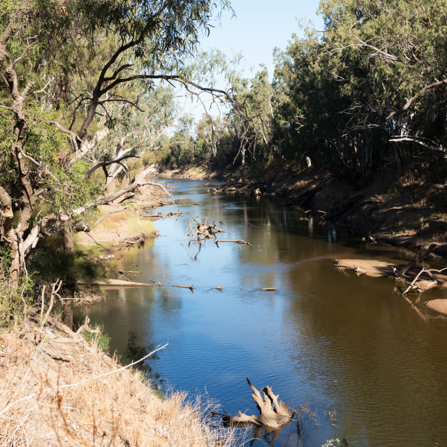 """Macquarie River"" stock image"