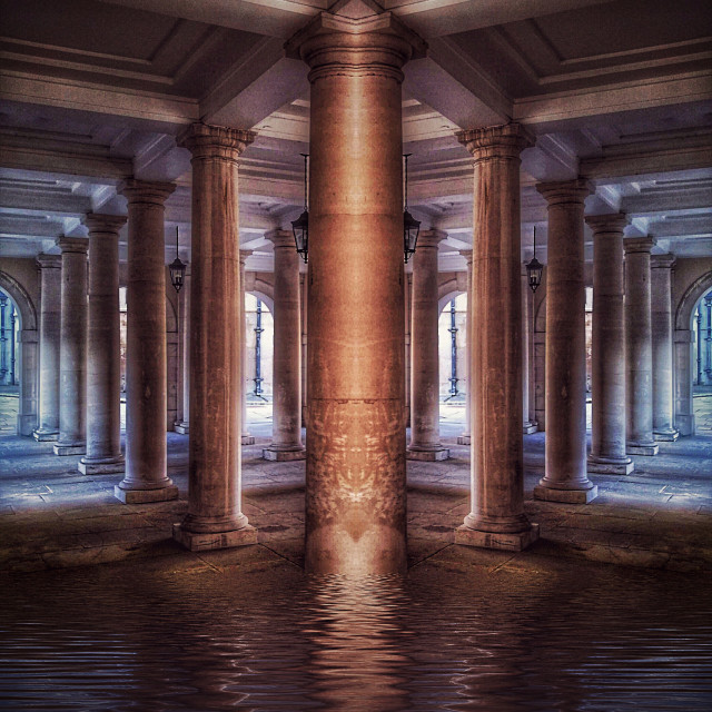 """""""Flooded Labyrinth"""" stock image"""