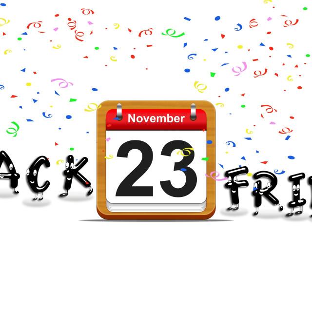 """Black Friday day november 23, 2018."" stock image"