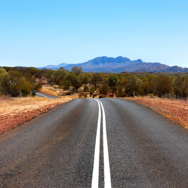 """Outback Road"" stock image"