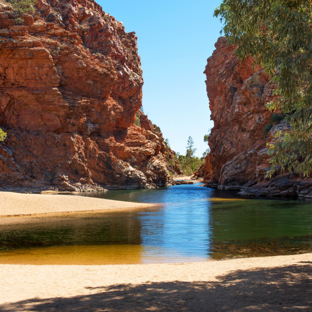 """Ellery Creek Big Hole"" stock image"
