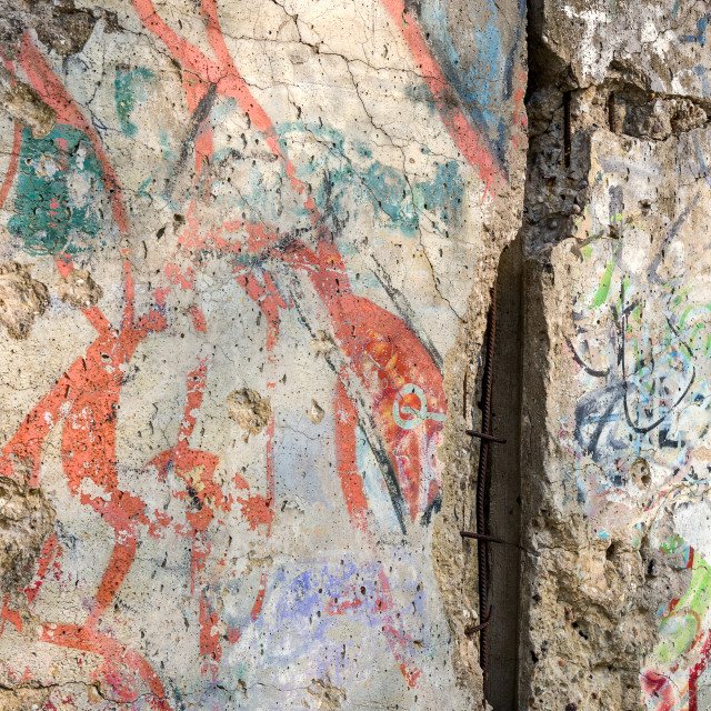 """Detail of the Berlin Wall"" stock image"