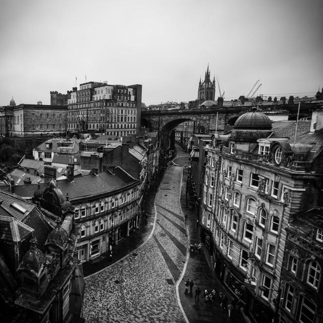 """Dean Street, Newcastle Upon Tyne."" stock image"