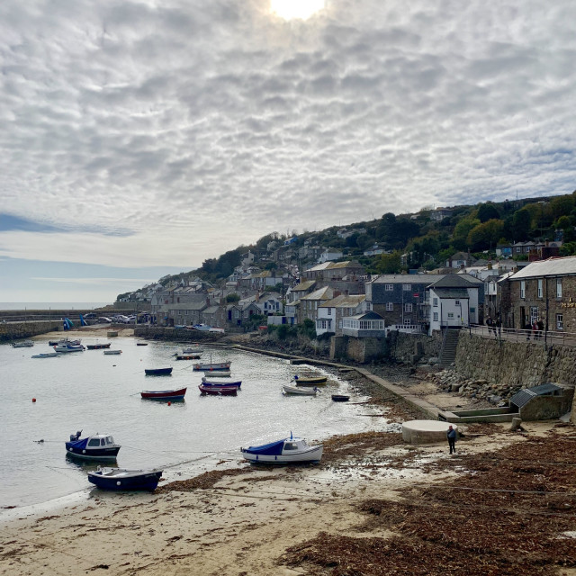 """Mousehole Harbour"" stock image"