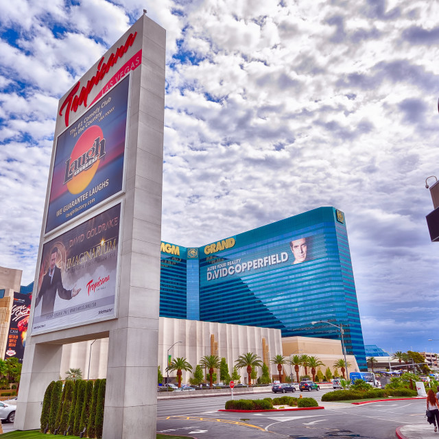 """""""Tropicana and MGM hotel and casino in Las Vegas."""" stock image"""