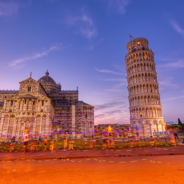 """""""Piazza dei miracoli, with the Basilica and the Leaning Tower, Pisa"""" stock image"""