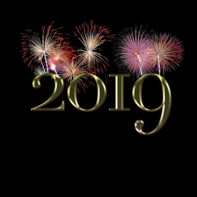 """""""New Year 2019."""" stock image"""