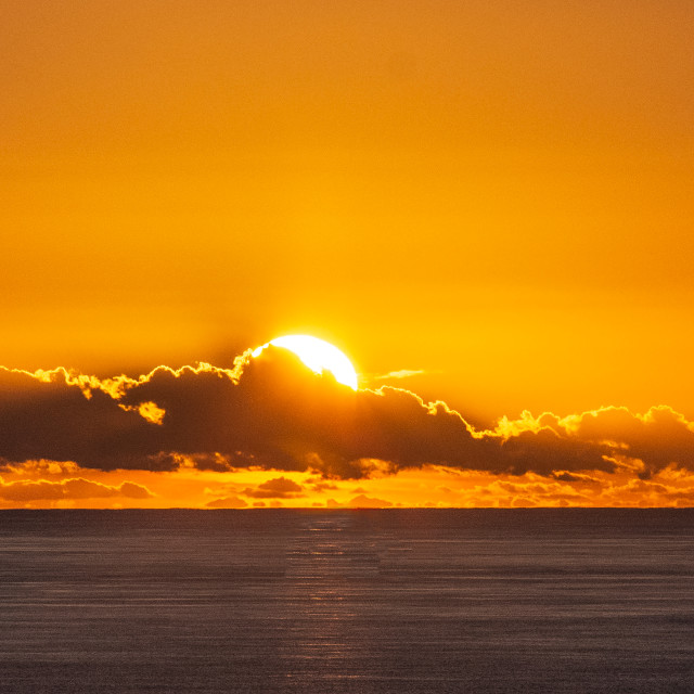 """Cornish Sunset."" stock image"