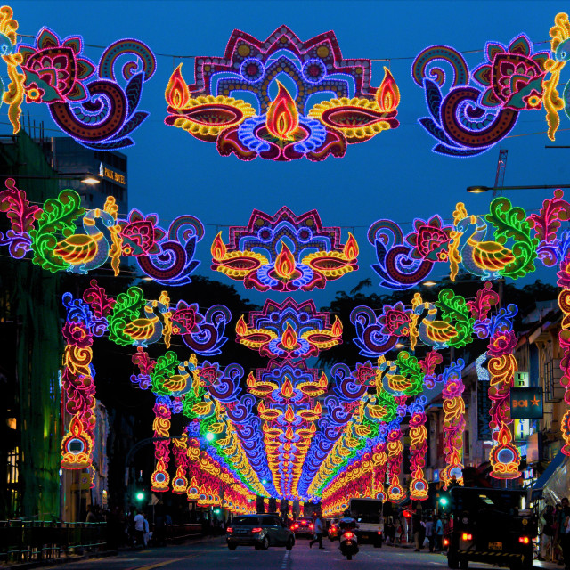 """Diwali Festival of Lights Singapore"" stock image"
