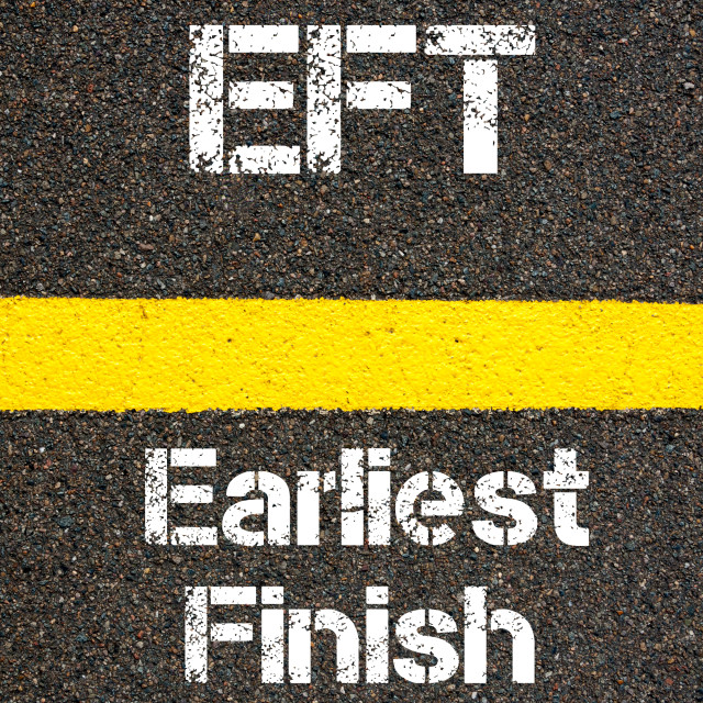 """""""Business Acronym EFT Earliest Finish Time"""" stock image"""