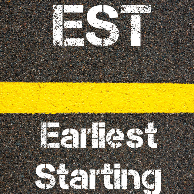 """""""Business Acronym EST Earliest Starting Time"""" stock image"""
