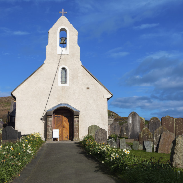 """""""Kirk Maughold Church"""" stock image"""