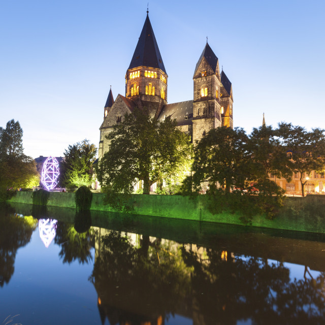 """New Protestant Church in Metz"" stock image"