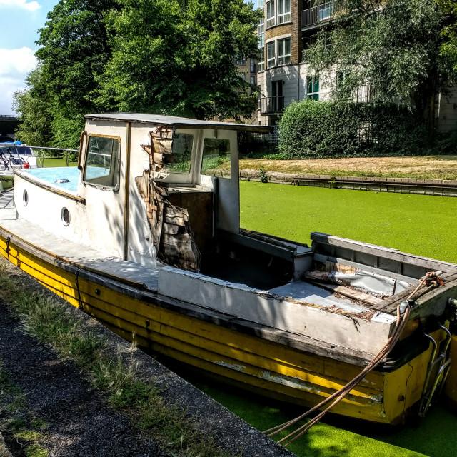 """Yellow boat"" stock image"