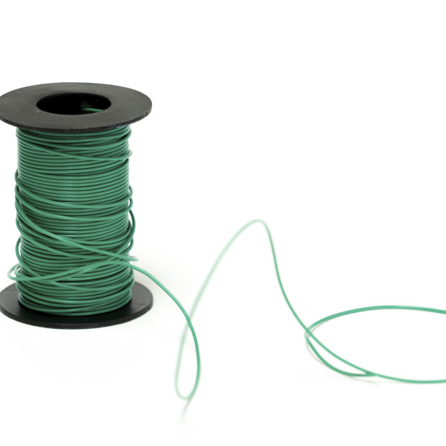 """Spool of electrical cable"" stock image"