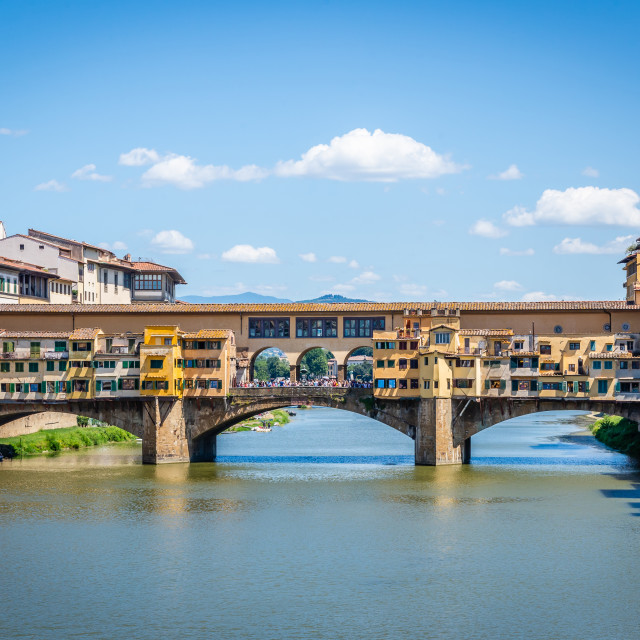 """""""View on famous Ponte Vecchio in ancient italian town Florence"""" stock image"""