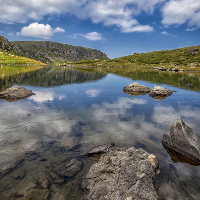 """the mountain lake"" stock image"