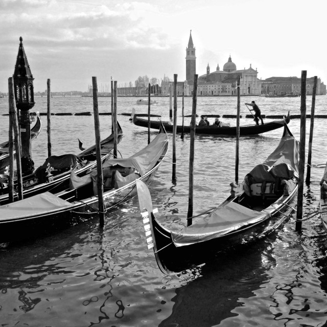 """Venice in black and white"" stock image"