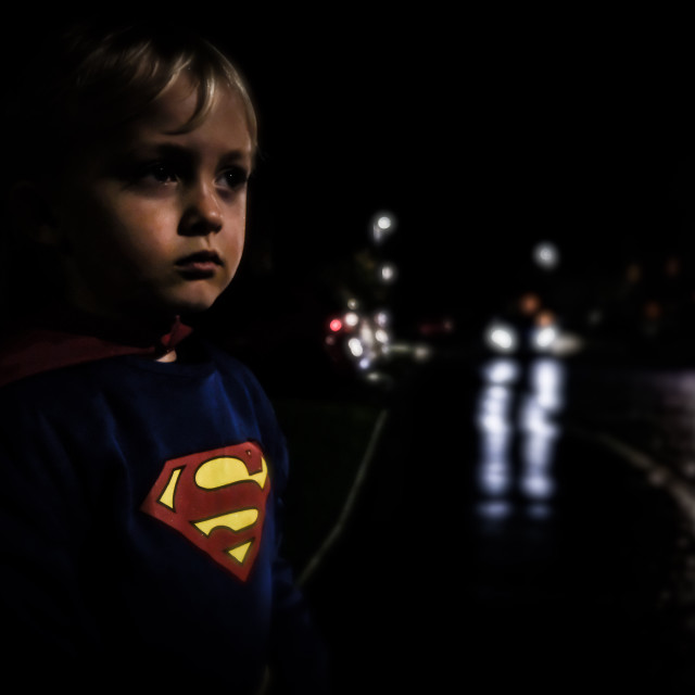 """Boy of steel"" stock image"