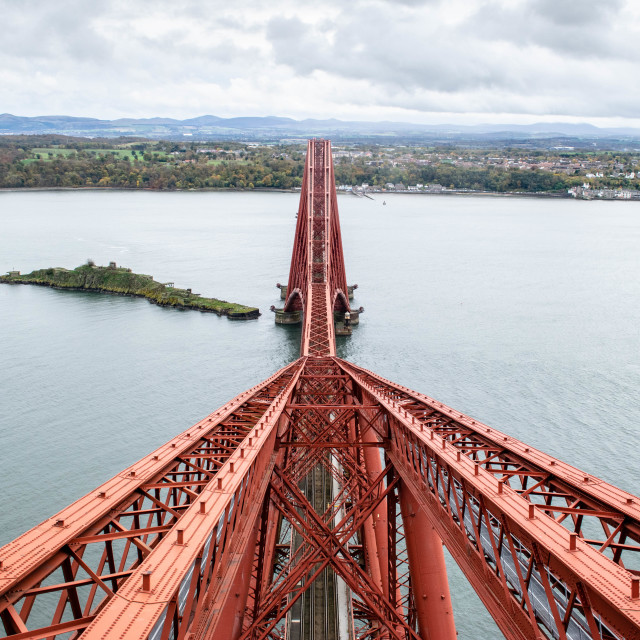 """""""View from the top of the Forth Bridge"""" stock image"""