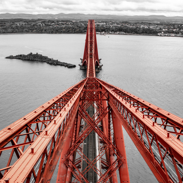 """""""Top of the Forth Bridge"""" stock image"""