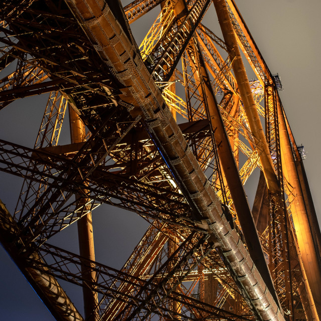 """Forth Bridge Section"" stock image"