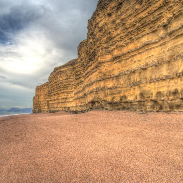 """Burton Bradstock cliffs"" stock image"
