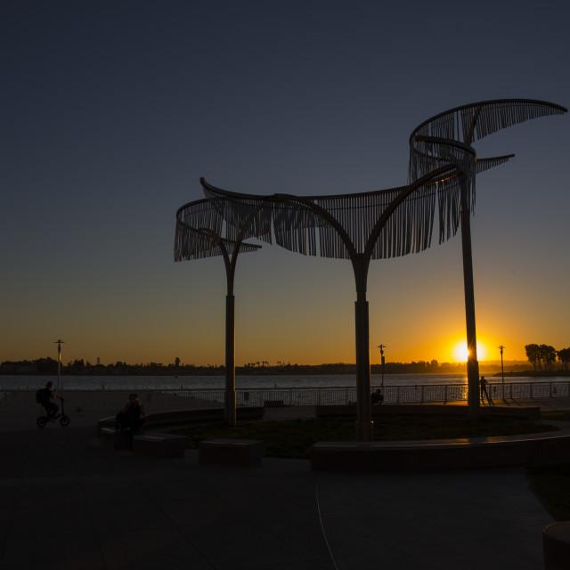 """Art and sunset"" stock image"