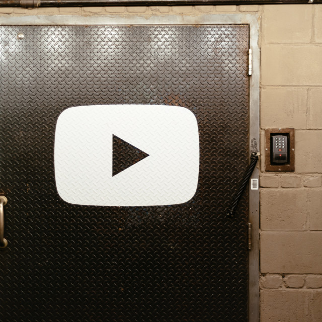 """""""Entrance to Youtube office in Chelsea Market"""" stock image"""