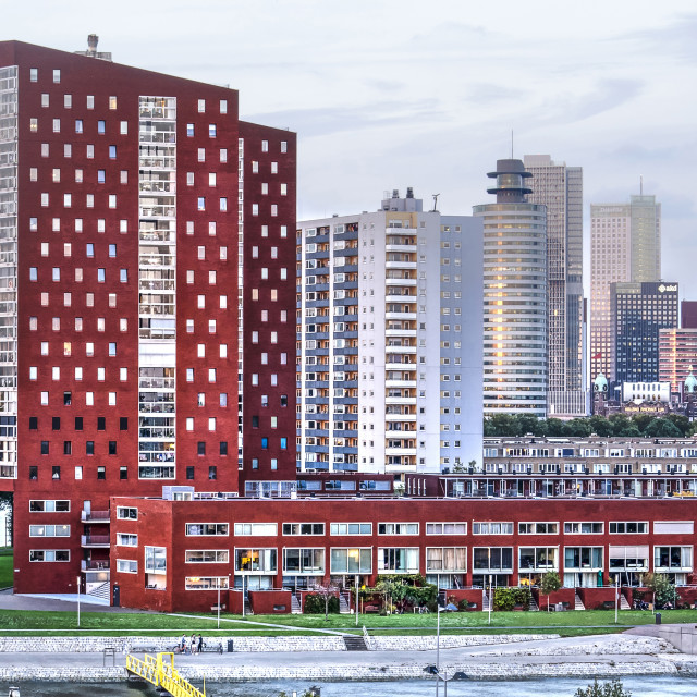 """Red residential towers"" stock image"