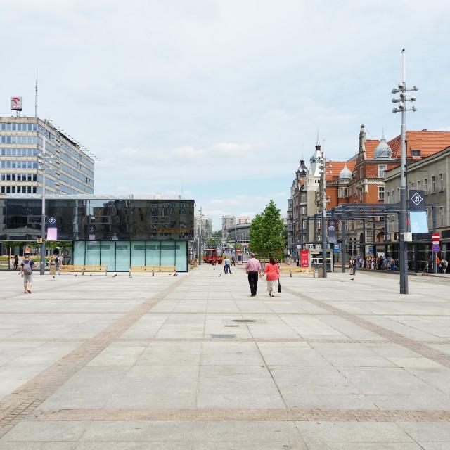 """""""Katowice: Market Square / Rynek"""" stock image"""