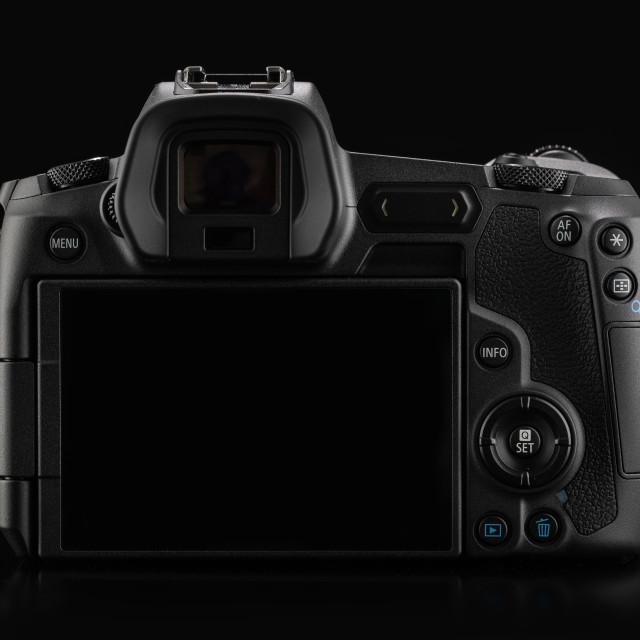 """Varna, Bulgaria - October 11,2018: Image of Canon EOS R Mirrorle"" stock image"
