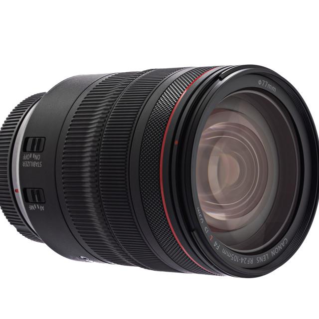 """Varna, Bulgaria - October 11,2018: Image of Canon EF 24-105mm f"" stock image"