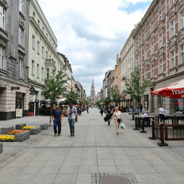 """Katowice: Mariacka Street"" stock image"