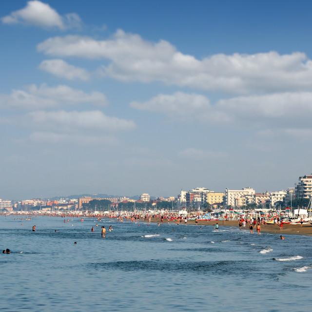 """beach Rimini Italy summer season"" stock image"