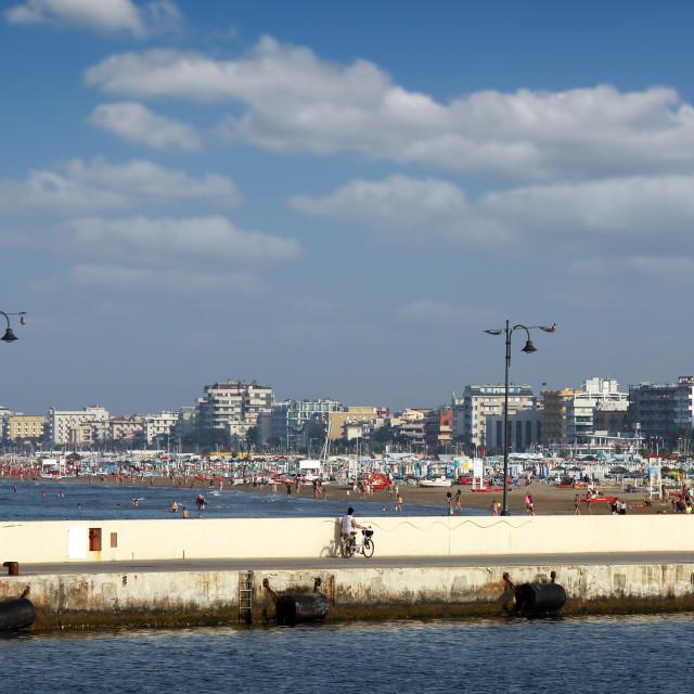"""beach Rimini Adriatic sea Italy summer season"" stock image"