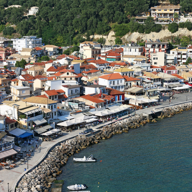 """Parga Greece tourist destination summer season"" stock image"