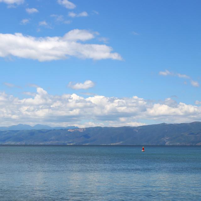 """Lake Ohrid Macedonia landscape summer season"" stock image"