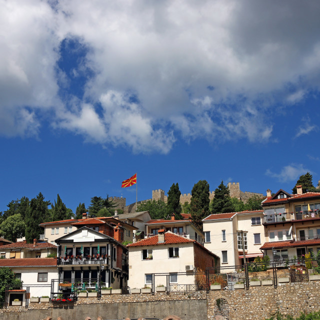"""""""Samuel fortress and old town Ohrid Macedonia"""" stock image"""