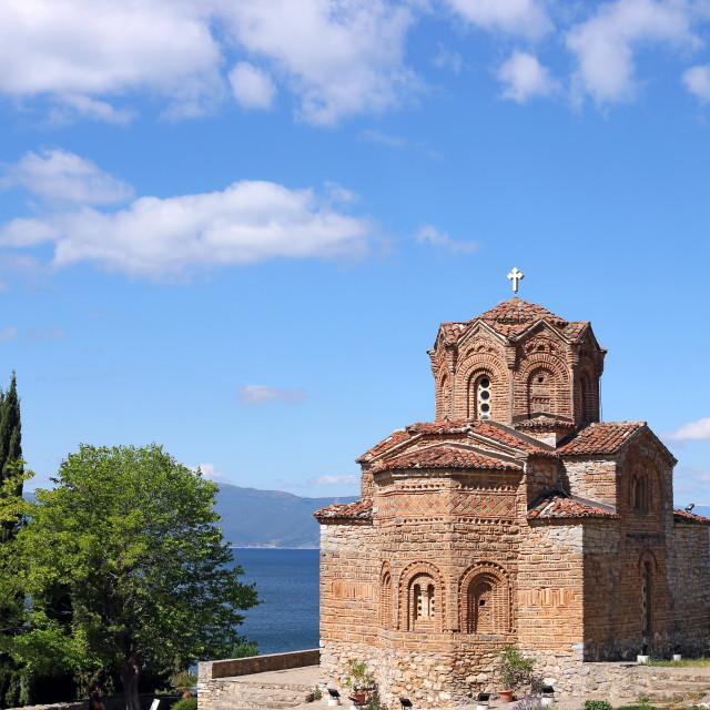 """Jovan Kaneo orthodox church Ohrid Macedonia"" stock image"