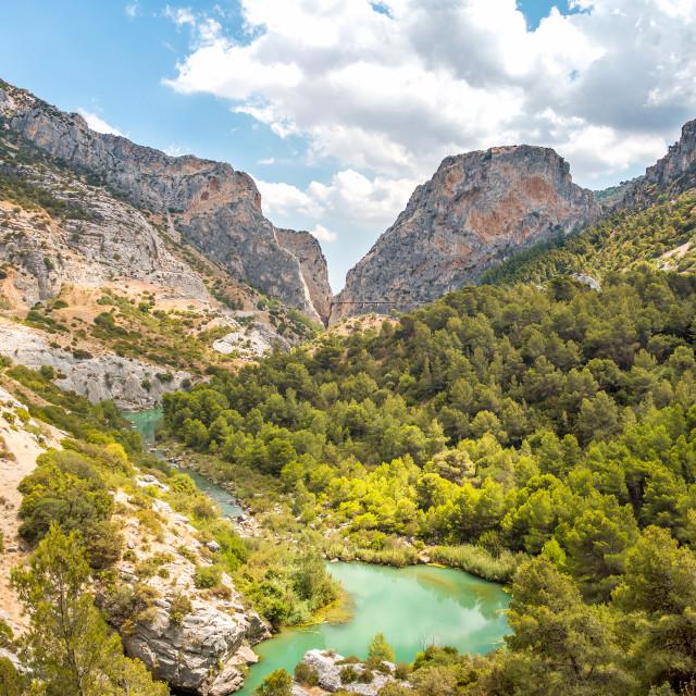 """""""Valley in Caminto del Rey"""" stock image"""