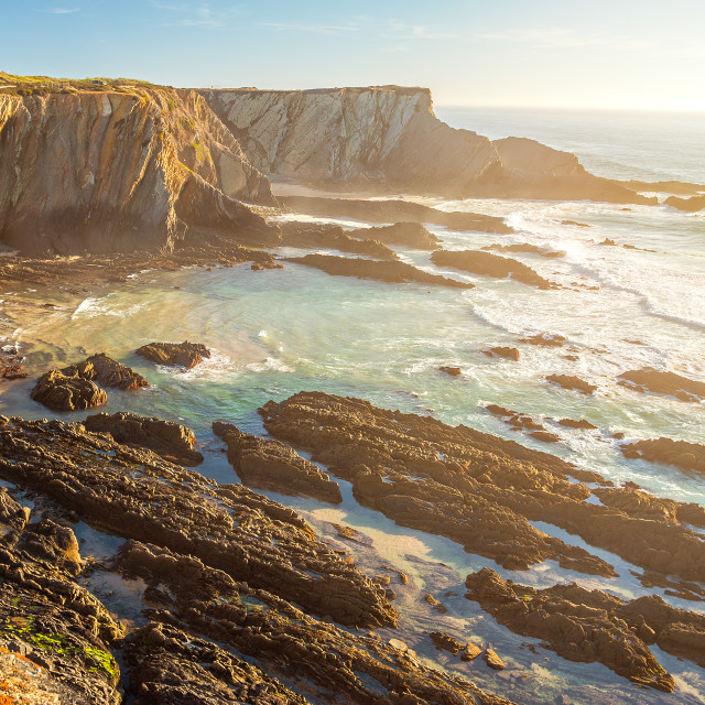 """""""Cliff at Cabo Sardao in Portugal"""" stock image"""
