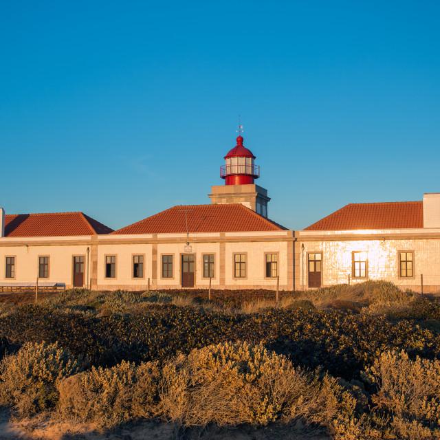 """Cabo Sardao lighthouse"" stock image"